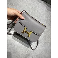 Hermes Women Leather Shoulder Bags Satchel Tote Bag Handbag Shopping Leather Tote Crossbody Satchel