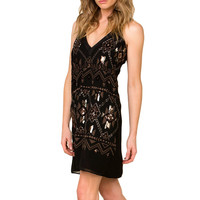 Miss Me Women's Geometric Sequined Sleeveless Dress
