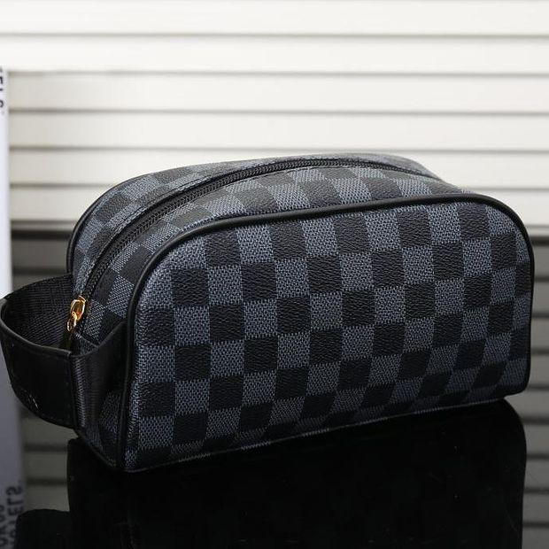 Image of LV louis vuitton hot sale men and women zipper cosmetic bag fashion small square bag hand bag