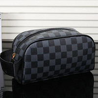 LV louis vuitton hot sale men and women zipper cosmetic bag fashion small square bag hand bag