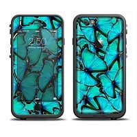The Turquoise Butterfly Bundle Apple iPhone 6/6s Plus LifeProof Fre Case Skin Set