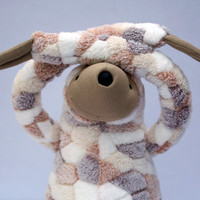 XXL Spotted Sloth, stuffed animal toy for children, large plush toy