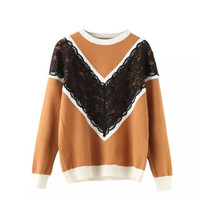 LACE SWEATER (2 colors)