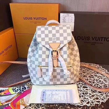 LV Louis Vuitton WOMEN'S DAMIER AZUR CANVAS Sperone BACKPACK BAG