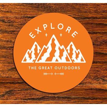 Explore The Great Outdoors - All weather vinyl sticker