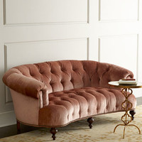 NM EXCLUSIVE Brussel Blush Tufted Sofa