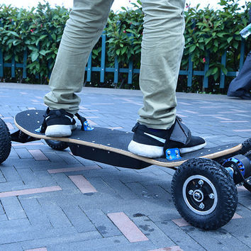 4 Four Wheels Electric Skateboard Dual Motor 1650W*2 Max 11000mAh Electric Scooters Longboard Hoverboard Remote key pneumatic