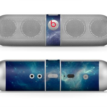 The Subtle Blue and Green Nebula Skin for the Beats by Dre Pill Bluetooth Speaker