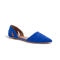 The D'Orsay Flat in Suede