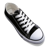 Preppy Style Women's Canvas Shoes With Solid Color and Lace-Up Design
