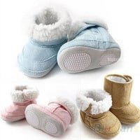 New Baby Boys Girls Shoes Toddler Winter Snow Warm Boots