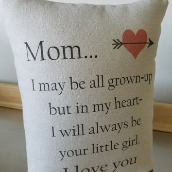 Long distance mom gift pillow mother birthday gift cushion