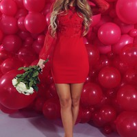 This Heart Of Mine Dress: Red