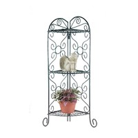 Flower Plant Stand- Scrolled Metal Foldable