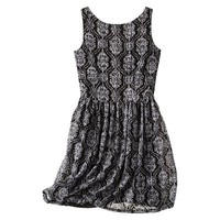 Xhilaration® Juniors Printed Lace Fit & Flare Dress - Assorted Colors