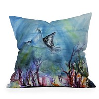 Ginette Fine Art Birds of the Ocean Throw Pillow
