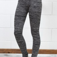 Body Shaping Fleece Lined Leggings {Heather Grey}