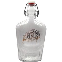 Glass Swing Top Flask Gold Spirits