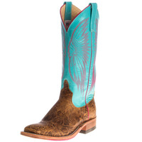 Women's Anderson Bean Brown Tool Box 13 Emerald Top Cowgirl Boots