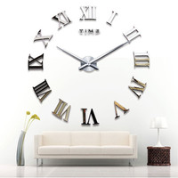 Hot Sale Roman Creative Diy Acrylic Mirror Clock [6282924806]
