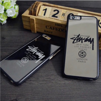 Chic Stussy Sliver Mirror Case For iPhone 7 7Plus 5 5s 6 6s 6Plus 6s Plus Chrome Back Cover Carcasa Capa Coque Fundas+Nice Gift Box