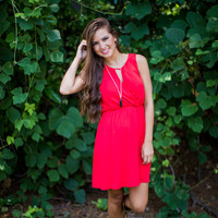 Simple Gameday Dress in Red