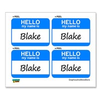Blake Hello My Name Is - Sheet of 4 Stickers
