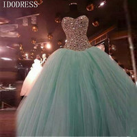Sweetheart Shiny Beading Quinceanera Dress 2015 Hot Sale Rhinestone Crystals 2015 Quinceanera Gowns Ball Dresses Bandage