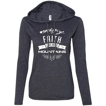"Christian Clothing - ""Faith Can Move Mountains"" Ladies Sweater"
