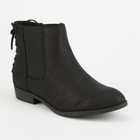 CITY CLASSIFIED Lace Back Womens Chelsea Booties
