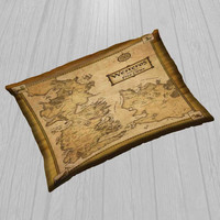 """Game Of Thrones Map Cover Pillow  Size 30"""" x 20"""""""