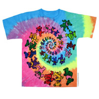 Grateful Dead - Spiral Bears Tie Dye T Shirt on Sale for $24.95 at HippieShop.com