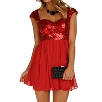 Sale-red Dreamy Sequin Tunic