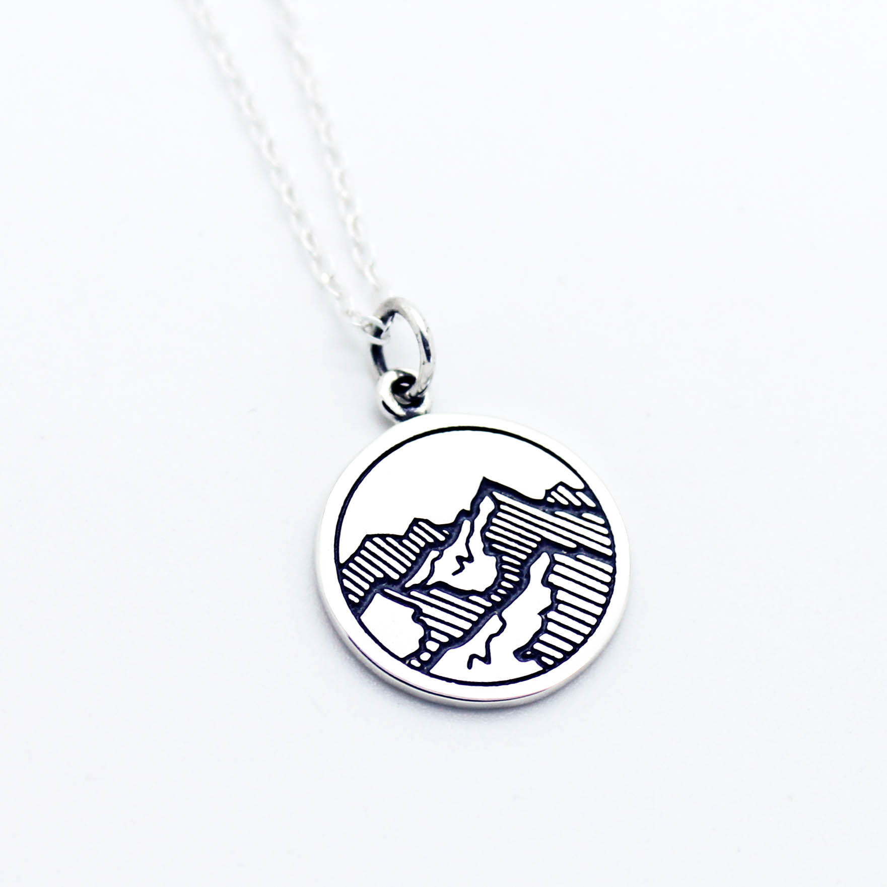Image of Mountains sterling silver necklace