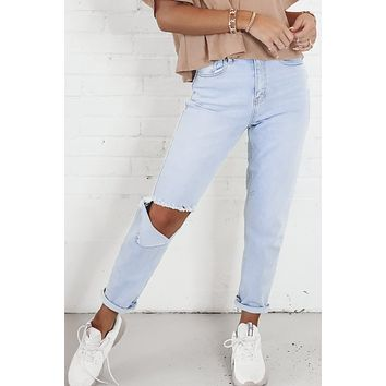 Get To The Point Light Distressed Denim