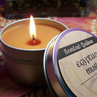 Egyptian Musk Candle - Sexy Musk Scented Soy Candle Perfect For Meditation & Relaxing