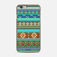Happy Teal Tribal (wood) iPhone 6 case by Noonday Design | Casetify