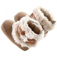 Doinshop Baby Boy Girl Bow-knot Shoes Toddler Winter Snow Warm Boots Brow