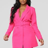 Brighten My Way Jacket - Fuchsia