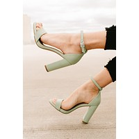 Blossom Up Block Heels (Mint)