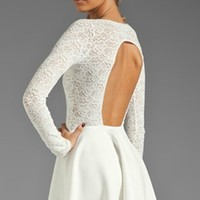 Backless long sleeve lace dress from Girl Boutique