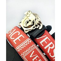 Versace hot seller of printed multicolored belts for men and women #2