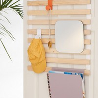 Keane Multi-Use Slatted Over-The-Door Storage Rack   Urban Outfitters