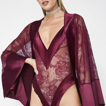Can't Trust Me Lace Robe
