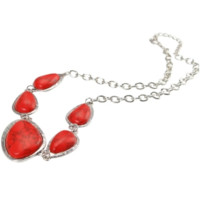 5 Red Irregular Turquoise Necklace 26 Free Shipping