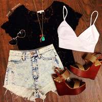 Tabby Crop Top - White