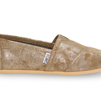Brass Metallic Synthetic Leather Women's Classics US