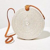 Structured Circle Straw Crossbody Bag | Urban Outfitters