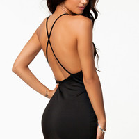 Black Crossback Mini Dress