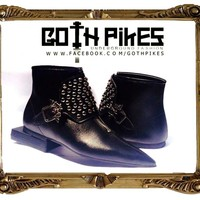 Goth-Pikes.com Goth Pikes Winklepickers TradGoth Studded buckle boots 80s Gothic Batcave WGT Siouxsie